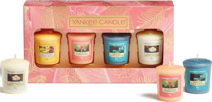 Yankee Candle Gift Set | 4 Scented Votive Candles | The Last Paradise Collection: Amazon.co.uk: Kitchen & Home