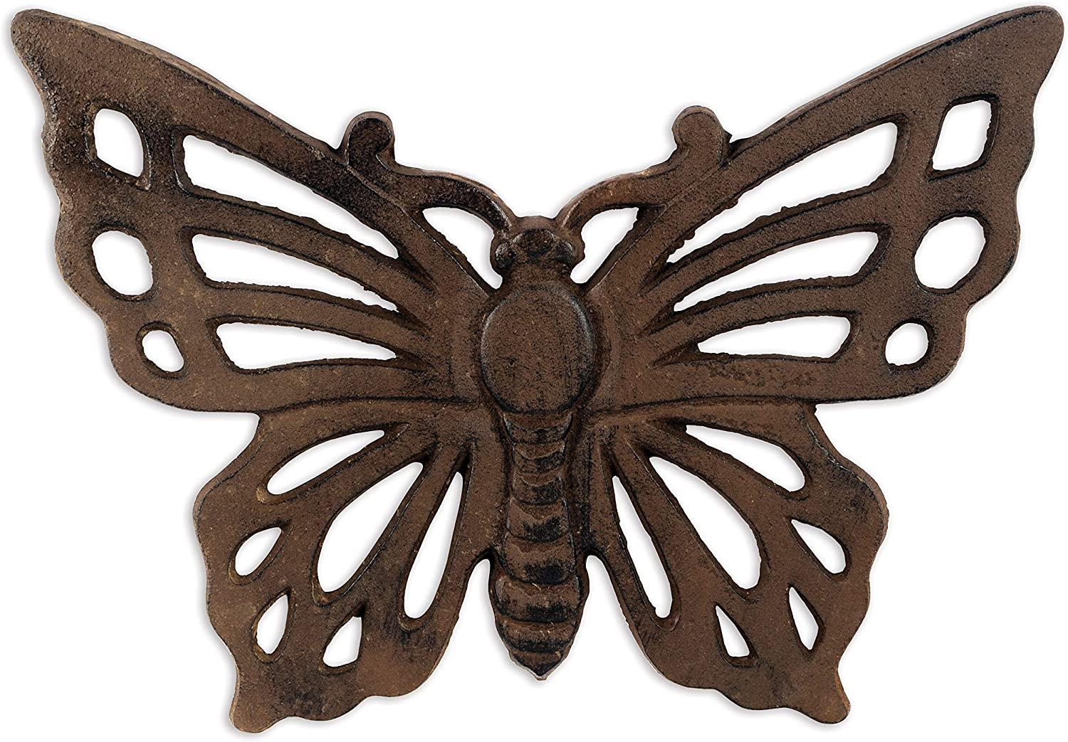 Sunset Vista Designs Garden Cast Iron Stepping Stone - Butterfly
