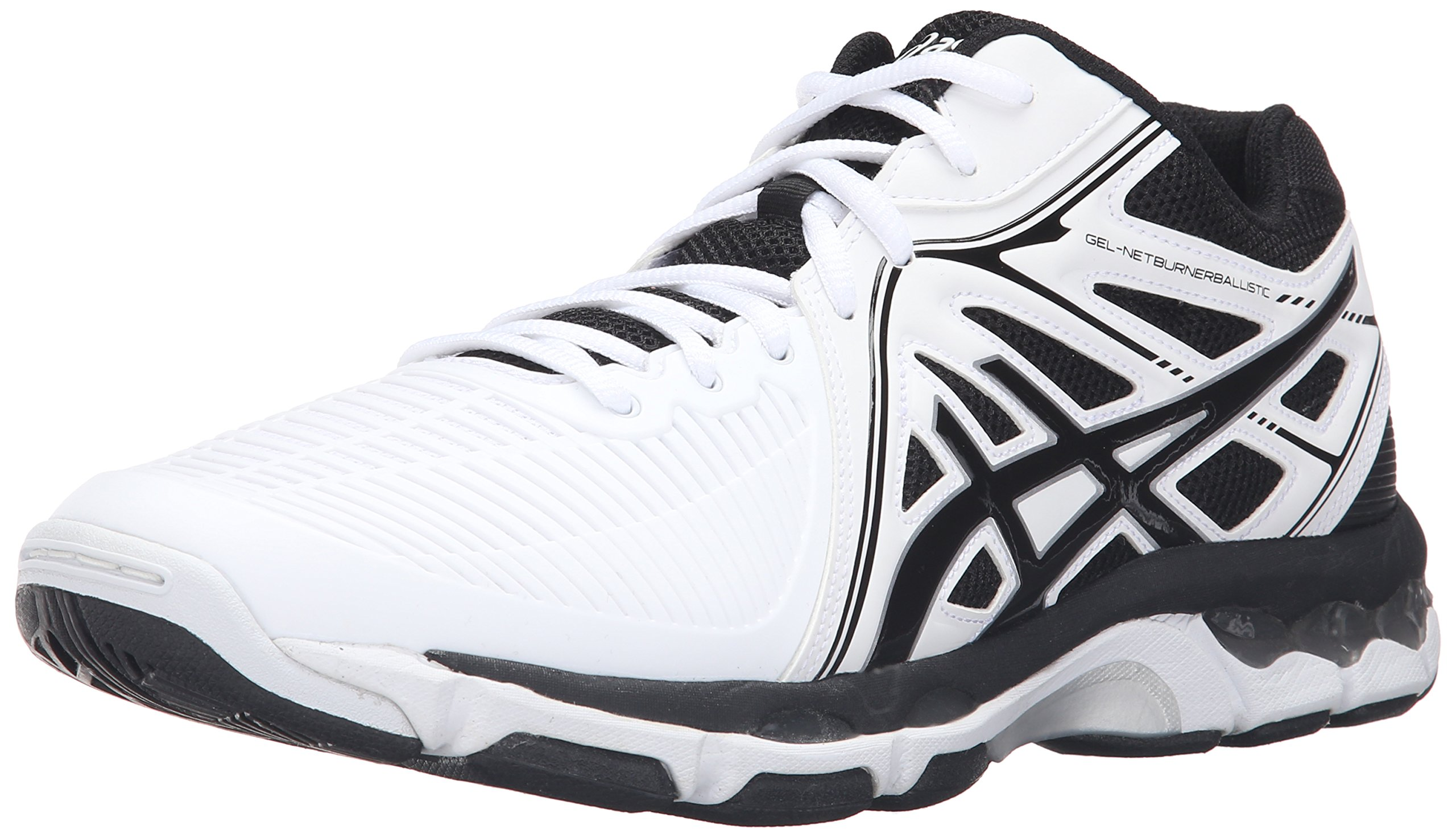 ASICS Men's Gel-Netburner Ballistic MT Volleyball Shoe, White/Black/Silver, 6 M US