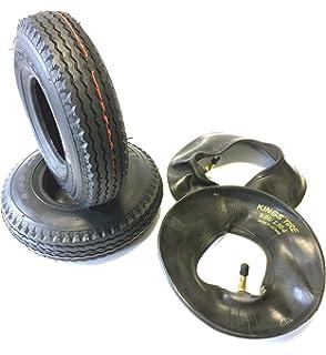 Silla 2 neumáticos 2.80/2.50 – 4, Negro, + 2 unidades Manguera ángulo Válvula, estructura 4 PR Neumáticos y…