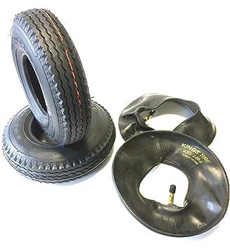 Silla 2 neumáticos 2.80/2.50 – 4, Negro, + 2 unidades Manguera ángulo