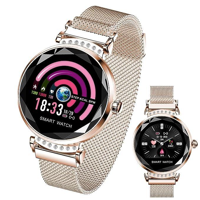 Reloj inteligente para mujer, HR Actividad Fitness Tracker con ...