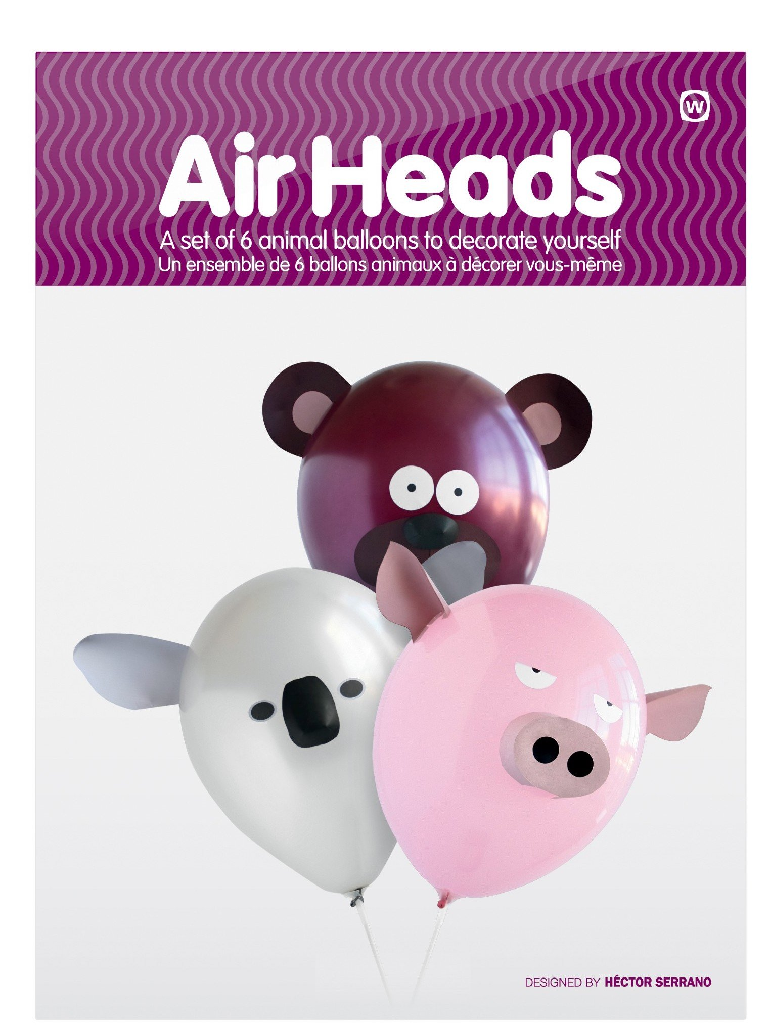 NPW-USA Air Head Character Animals Party Balloons (Set of 6)