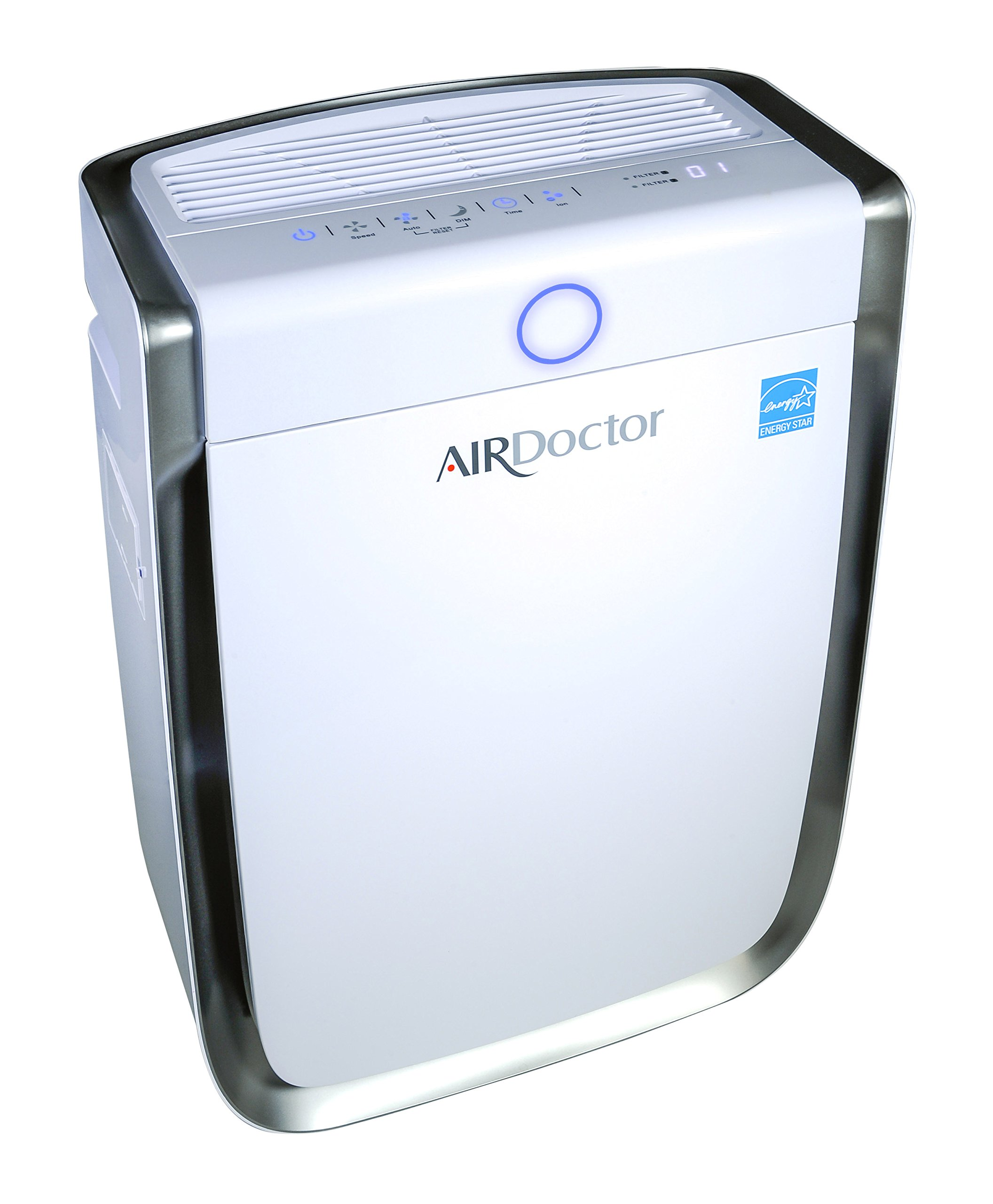 AIR DOCTOR 4-in1 Air Purifier, Ultra HEPA, Carbon & VOC Filters Eliminate Smoke, Mold, Germs & Viruses, Pollen, Pet Dander, Pet Hair, Viruses, Bacteria, Odors and Dangerous Gasses - White