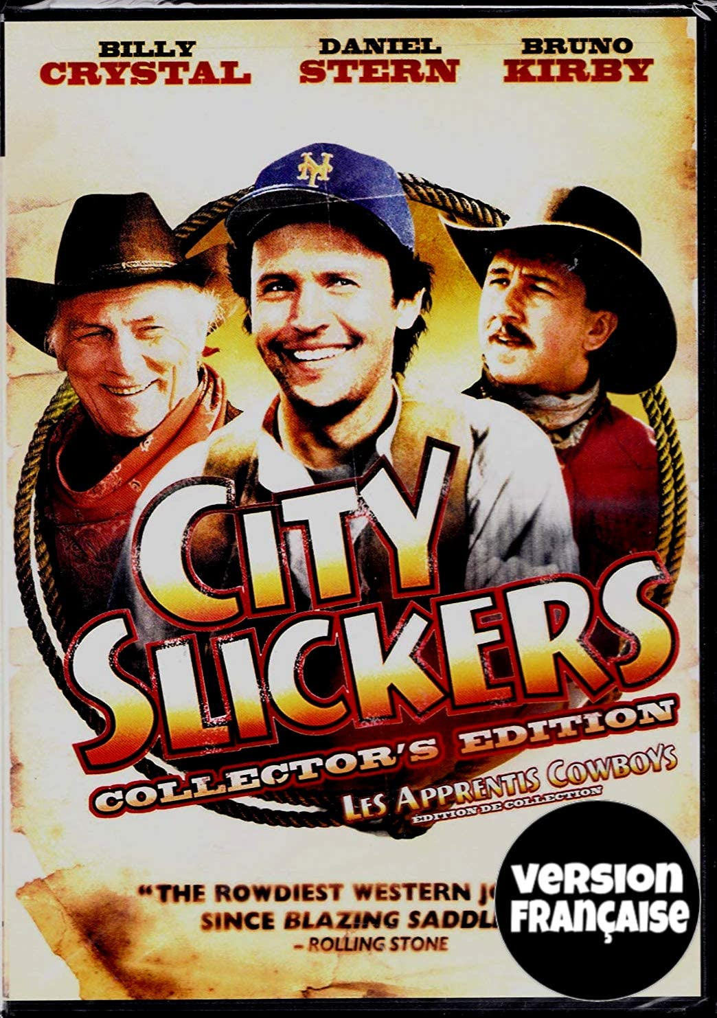 Les Apprentis Cowboys City Slickers English French 1991 Widescreen Regie Au Quebec Cover Bilingue Edition De Collection Amazon Ca Billy Crystal Daniel Stern Bruno Kirby Jack Palance Ron Underwood Dvd