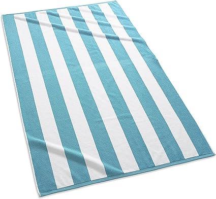 CafePress Aqua Blue Ombre Beach Towel 1570072042