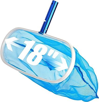 Jiecikou Leaf Rake Pool Skimmer Net Heavy Duty Deep Bag Skimmer Fine Mesh Net Bag Catcher