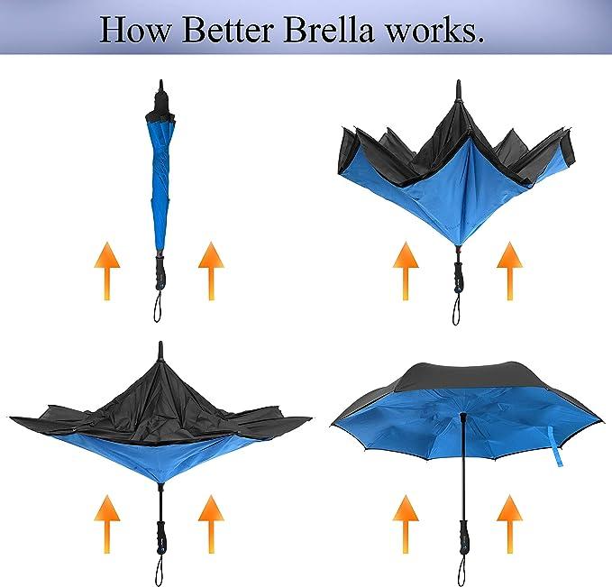 Amazon.com: Better Brella Paraguas a prueba de viento ...