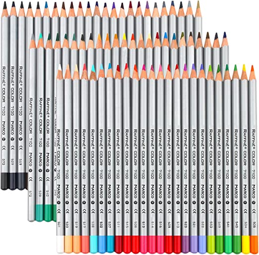 Raffine Marco 72-color Fine Art Colored Drawing Pencils Coloring Books Sketching