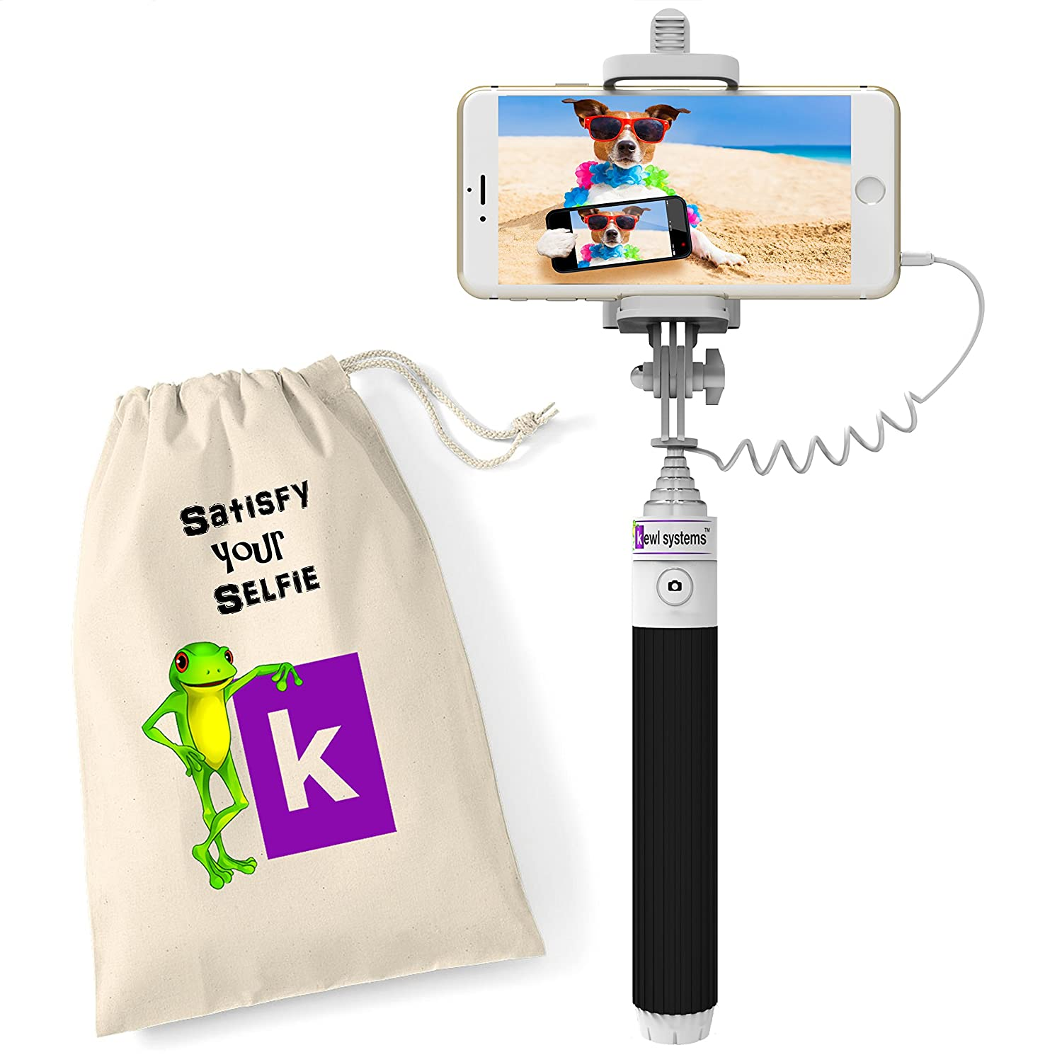 mini selfie stick with carry bag. Black Bedroom Furniture Sets. Home Design Ideas