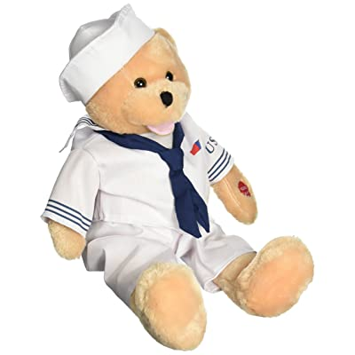 "Chantilly Lane 19"" American Hero Navy Bear Sings ""Anchors Aweigh"": Toys & Games"