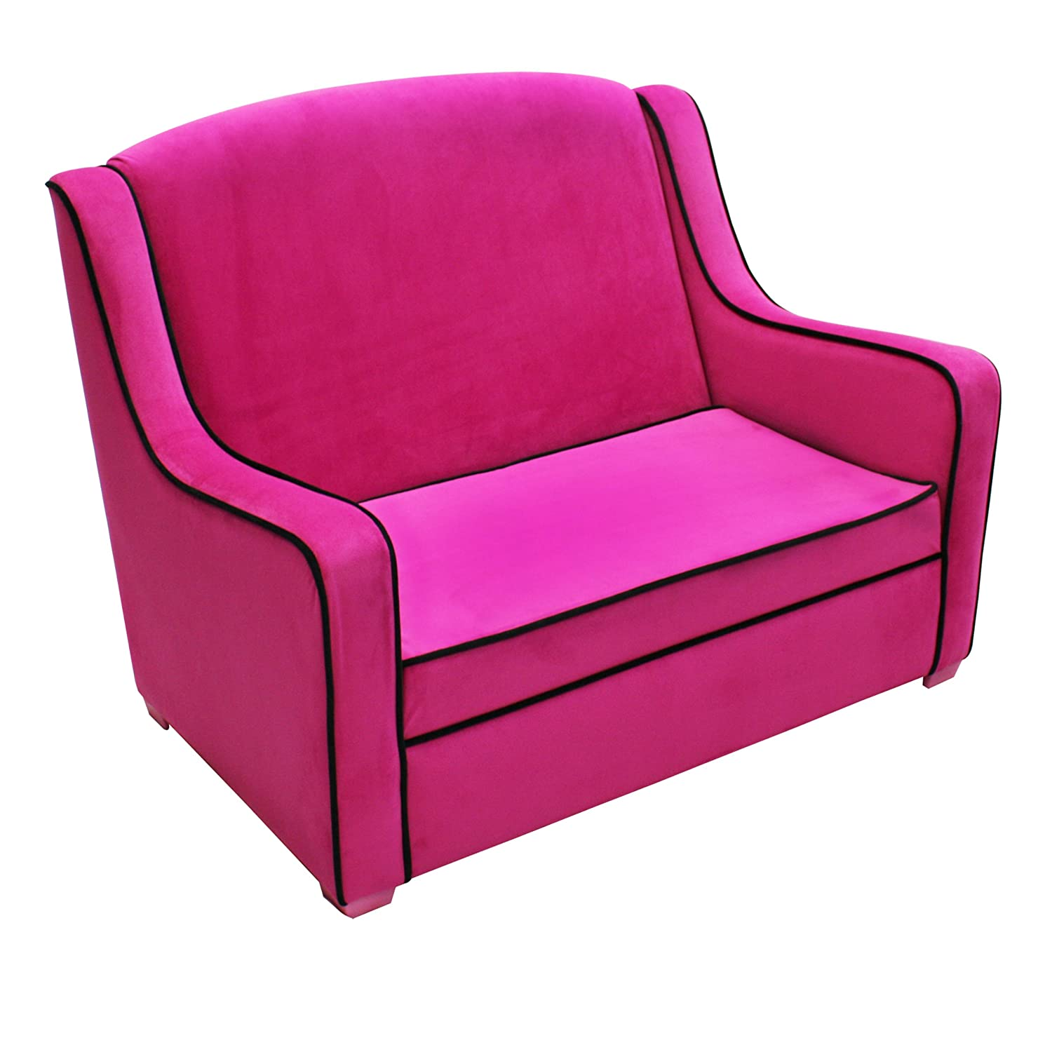 Amazon: Newco Kids Tween Camille Sofa, Hot Pink/Black: Baby