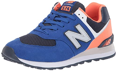 huge selection of c6631 74a84 New Balance Men's Iconic 574 Sneaker, Team Royal/Dark Mango, 17 2E US