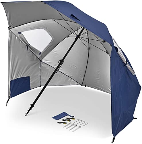 Sport-Brella Premiere XL UPF 50+ Umbrella Shelter for Sun and Rain Protection (9-Foot)