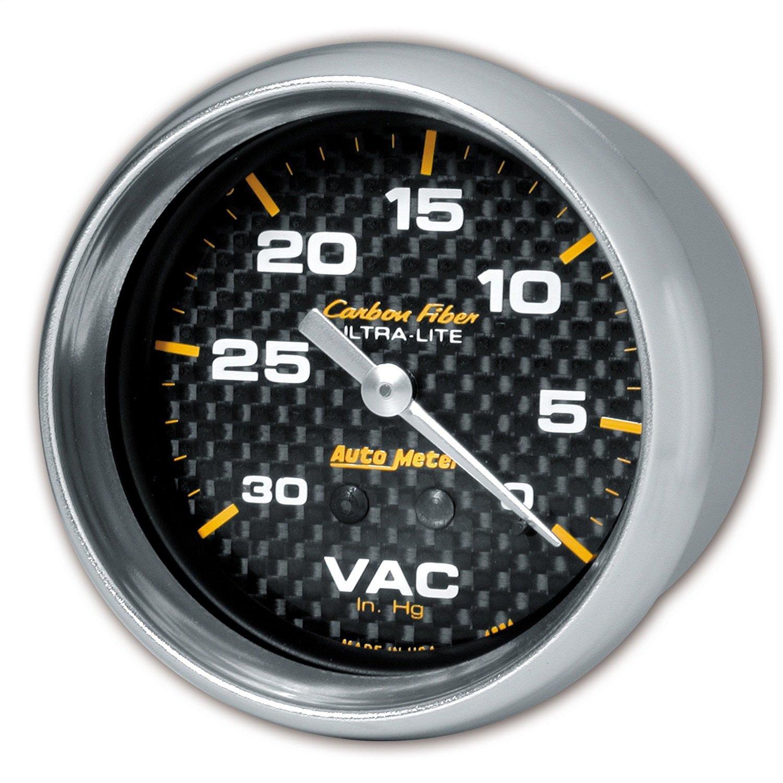 Auto Meter 4884 Carbon Fiber Mechanical Vacuum Gauge