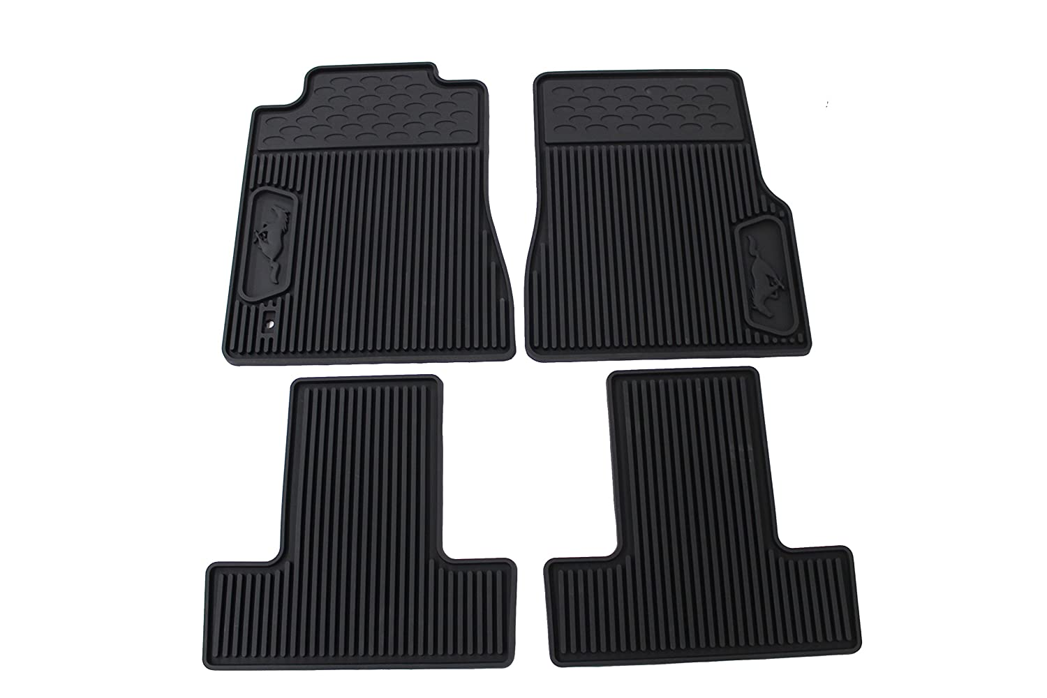 Rubber floor mats with mustang logo - Amazon Com Genuine Ford 6r3z 6313300 A All Weather Floor Mat Automotive