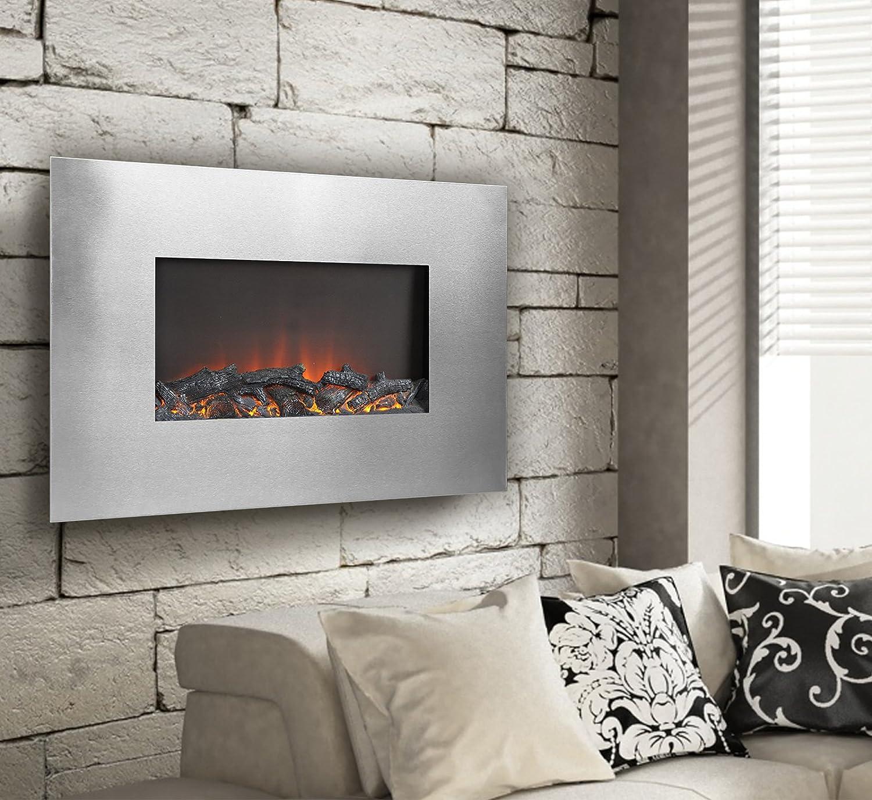 amazon com homestar tucson flame lux 35 wide wall mount firebox