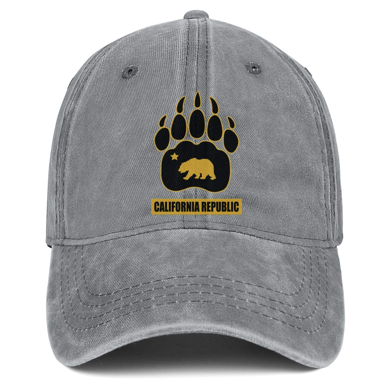 California Republic Bear Unisex Baseball Cap Fitted Snapback Hats Adjustable Trucker Caps Dad-Hat