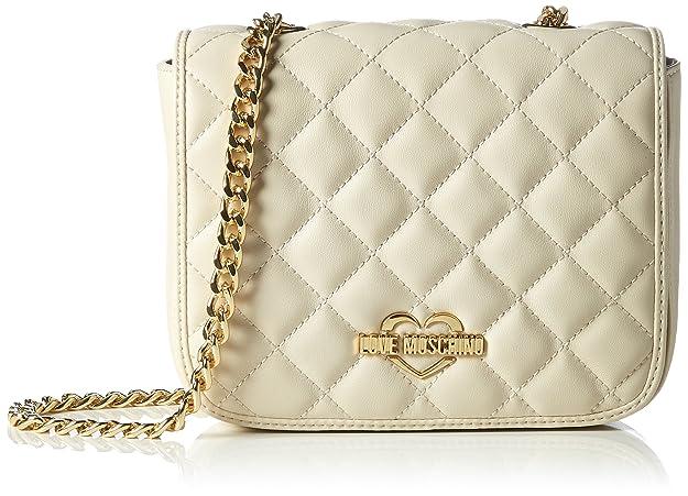 Borsa Nappa Quilted Pu Grigio, Womens Shoulder Bag, Grey, 6x14x22 cm (B x H T) Love Moschino