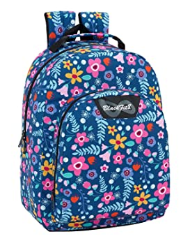 Blackfit8 Flowers Mochila Adaptable a Carro con protección Inferior: Amazon.es: Equipaje
