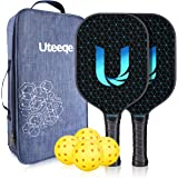 Uteeqe Pickleball Paddles Graphite Pickleball Paddle Set Lightweight Texture Surface Polymer Honeycomb Core Pickleball…