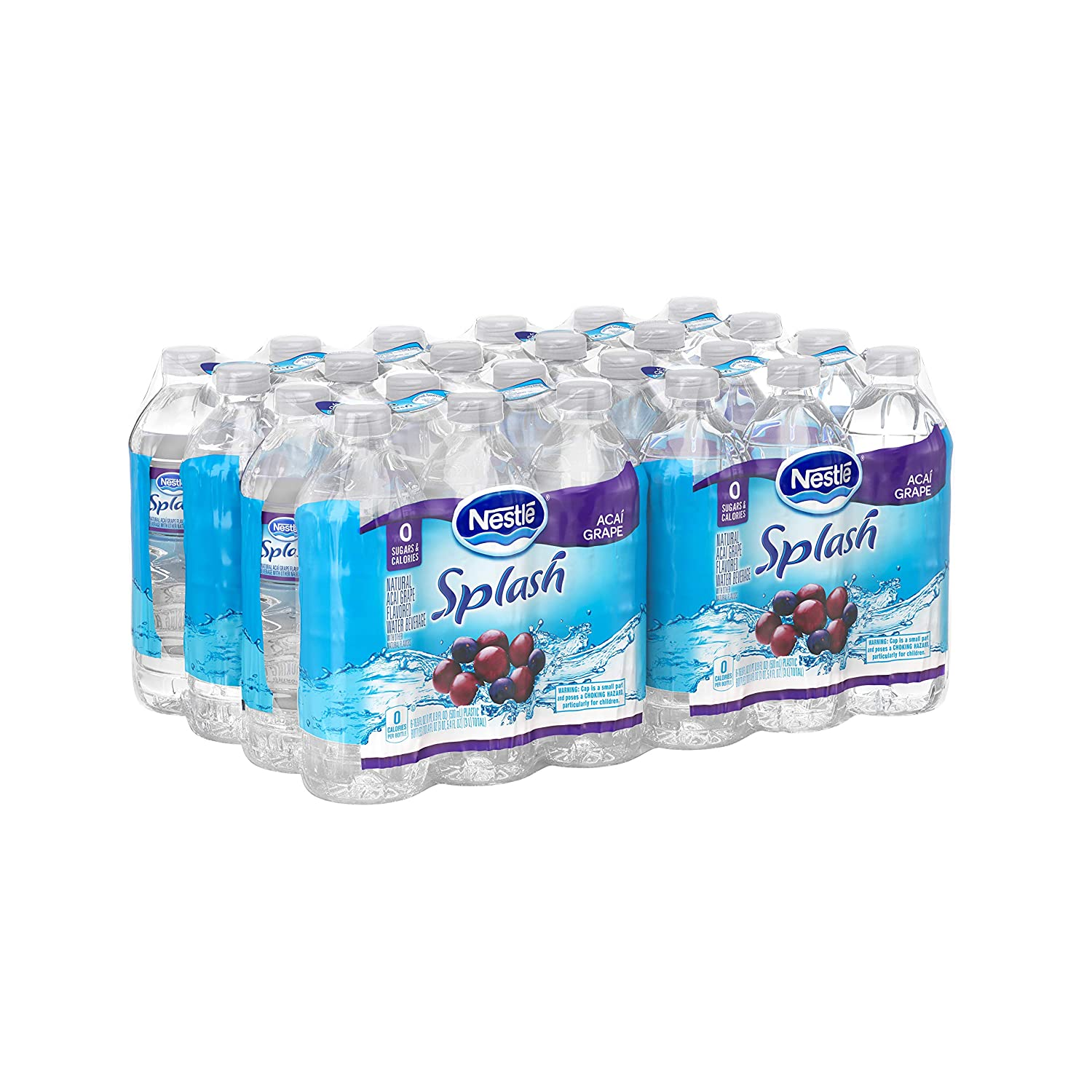 Nestle Water Nestle Pure Life Splash Flavored Water, Acai Grape, 16.9 oz