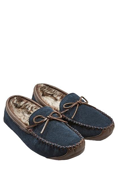 Next Hombre Mocasines De Encaje Perforado De Firma Azul Marino EU 47: Amazon.es: Zapatos y complementos