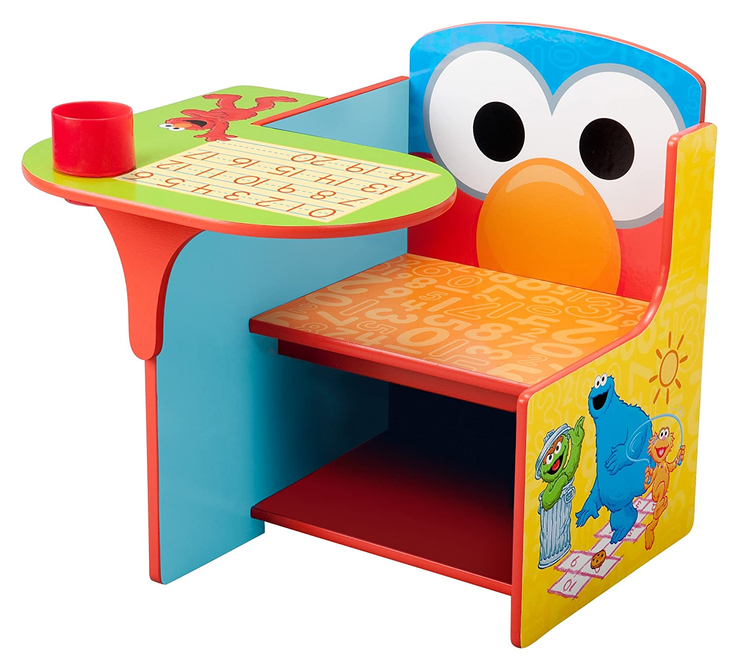 Elegant Amazon.com: Delta Children Chair Desk With Storage Bin, Sesame Street: Baby