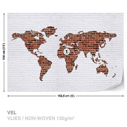 Brick wall world map wall mural photo wallpaper room dcor 2853ws brick wall world map wall mural photo wallpaper room dcor 2853ws gumiabroncs Gallery