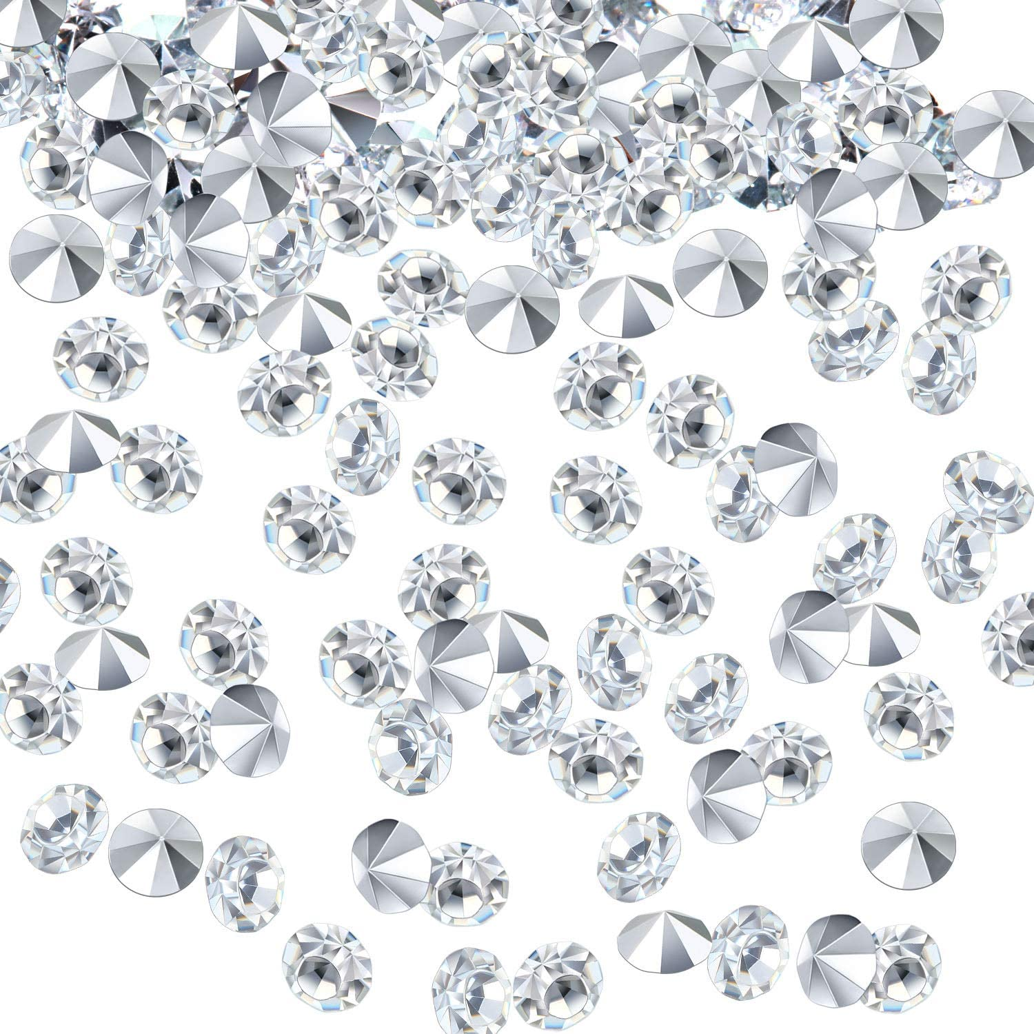 5000 pcs//Pack Wedding Table Scatter Confetti Crystals Acrylic Diamonds 6 mm Rhinestones for Wedding Bridal Shower Vase Beads Decorations 6mm, Bisque