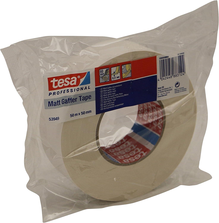 tesa 53949 Gaffer Tape matt 50mm silber 50m