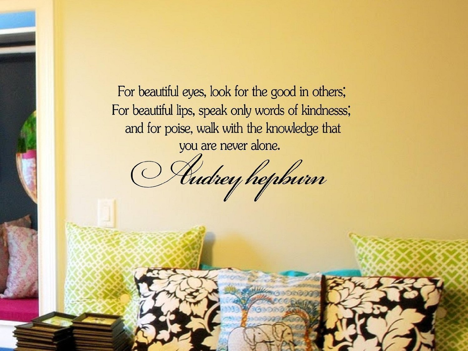 Decalgeek Audrey Hepburn Inspirational Quotes Vinyl Wall Art Decal ...
