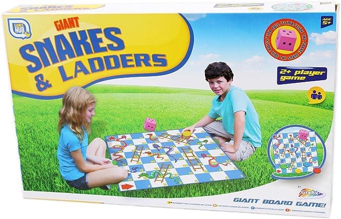 Grafix Just Play Giant - Juego de mesa Snakes and Ladders (idioma español no garantizado): Amazon.es: Juguetes y juegos