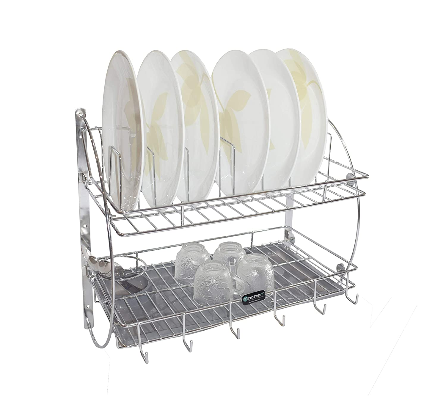 Buy Mochen Kitchen Rack With Removable Strong Plastic Drip Tray Racks Shelves Racks Dish Rack Utensil Holder Rack Online At Low Prices In India Amazon In