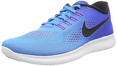 Nike Free RN Blue Glow/Black/Racer Blue/Bright Crimson Mens Running Shoes