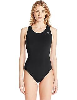 e68a3802c1de5 Amazon.com   TYR SPORT Women s Durafast Elite Solid Maxfit Swimsuit ...