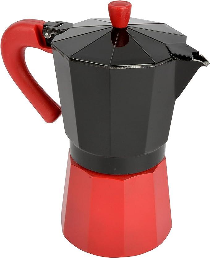Bloquer Alba Select Cafetera Inducción, Aluminio, Negro y Rojo, 22x20x10.7 cm: Amazon.es: Hogar