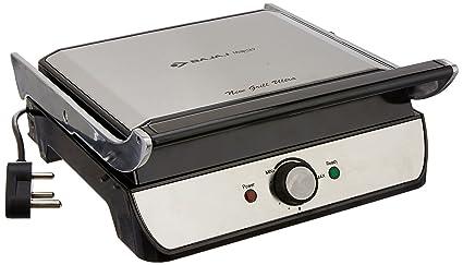 Bajaj New Grill Ultra 2000-Watt 4-Slice Sandwich Maker (Brushed Silver)