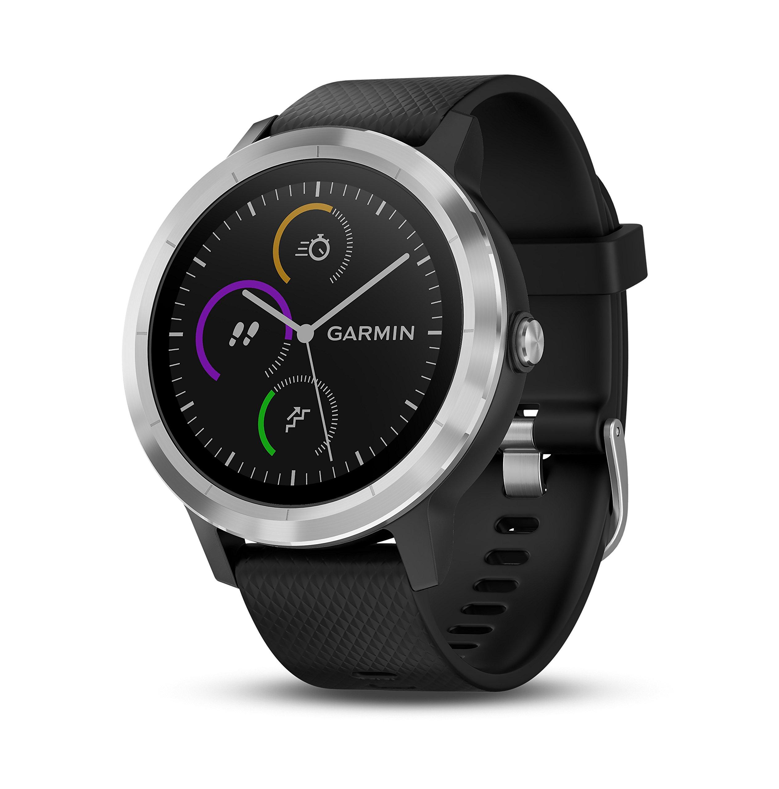 Garmin vívoactive 3 GPS Smartwatch - Black & Stainless by Garmin