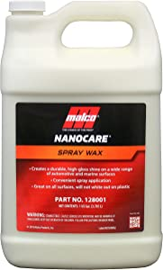 Malco Nano Care Spray Wax - Interior and Exterior Car Wax / Provides Long-Lasting Shine and Protection Both Inside and Outside Vehicle / 1 Gallon (128001)