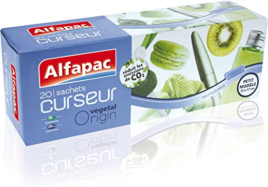 Alfapac - Bolsas para congelador, biodegradable, pack de 2 (2x 20 ...