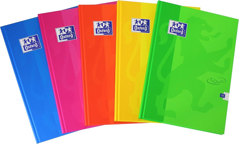 Quaderno A4 ESSE con copertina semirigida 96 fogli colori assortiti 5 pezzi a quadretti Oxford 400017512