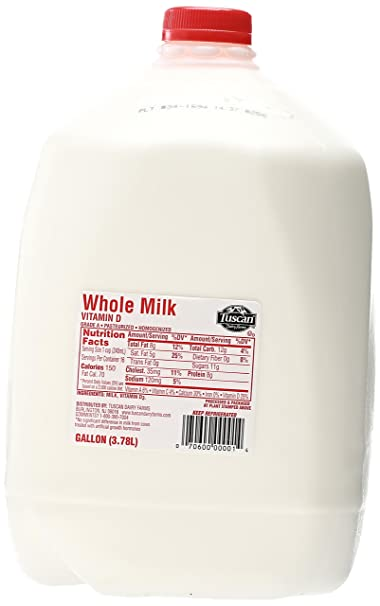 Gallon Of Whole Milk Nutrition Facts