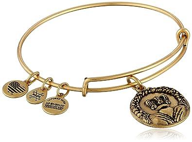 Alex and Ani Claddagh Expandable Charm Bracelet, Rafaelian Gold Finish