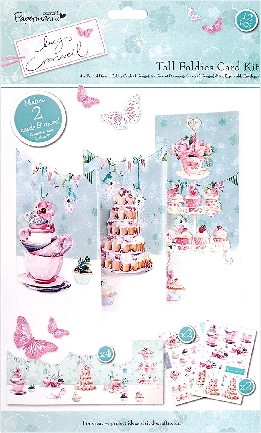 choose your design Papermania docrafts Christmas card Mini Decoupage Kit