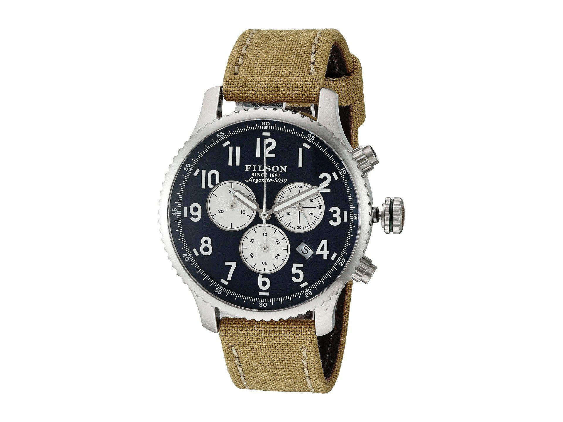 Filson Unisex Mackinaw Field Chrono Watch 43 mm Navy Blue One Size
