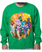 Amazon.com: 80sTees Men's He-Man She-Ra Christmas Faux Sweater ...