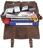 """Men's Leather Satchel Briefcase, 16"""" Laptop"""