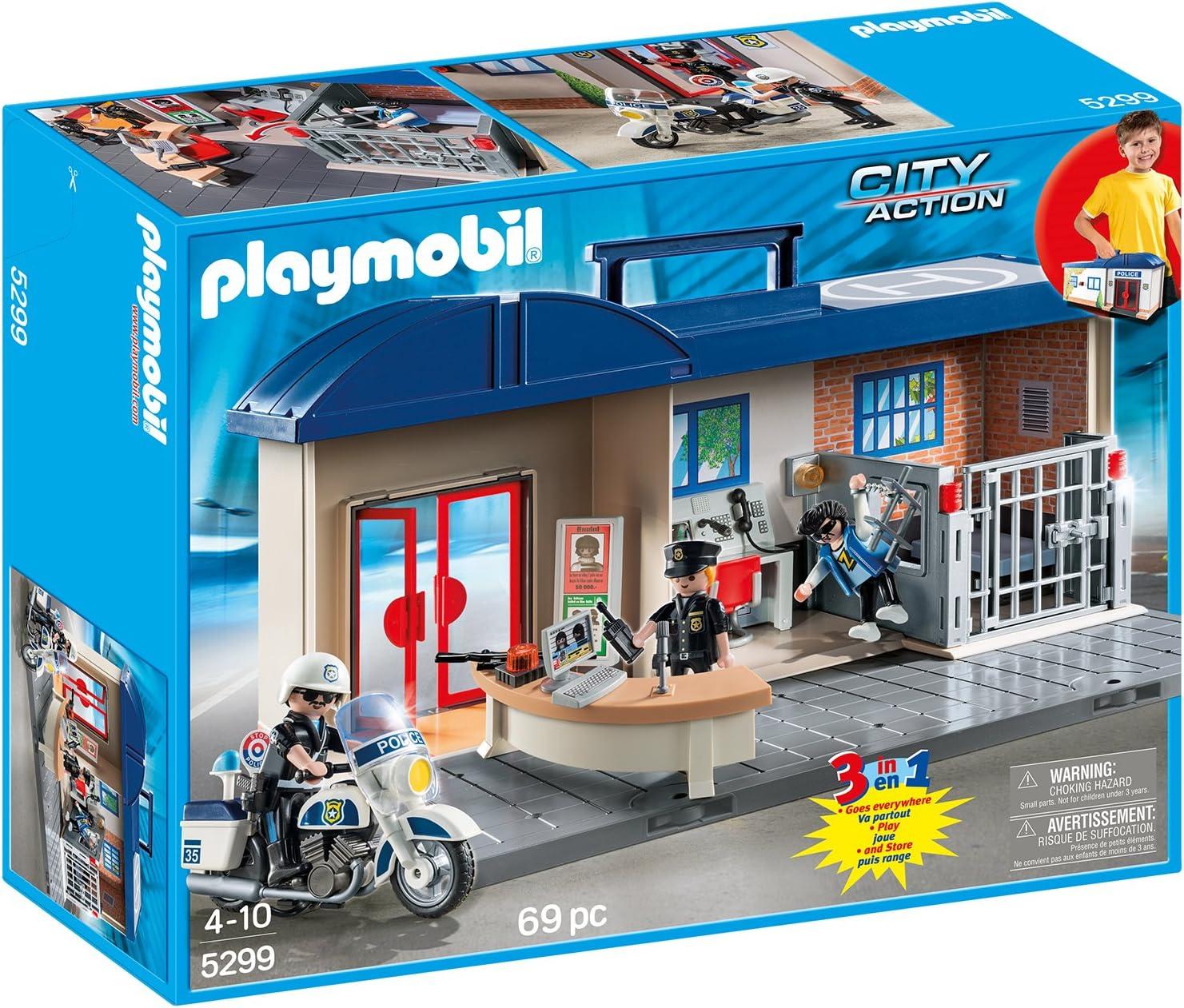 Playmobil 5299 Mitnehm Polizeizentrale Amazon De Spielzeug