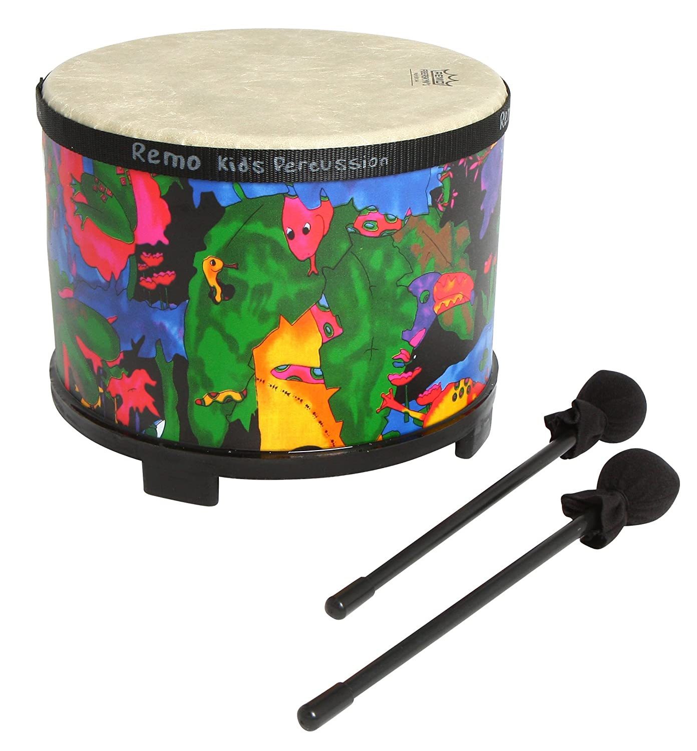 "Remo KD-5400-01 Kids Percussion Bongo Drum - Fabric Rain Forest, 5""-6"" 5""-6"""
